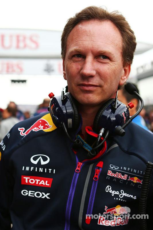 Christian Horner, Red Bull Racing Takım Patronu gridde.