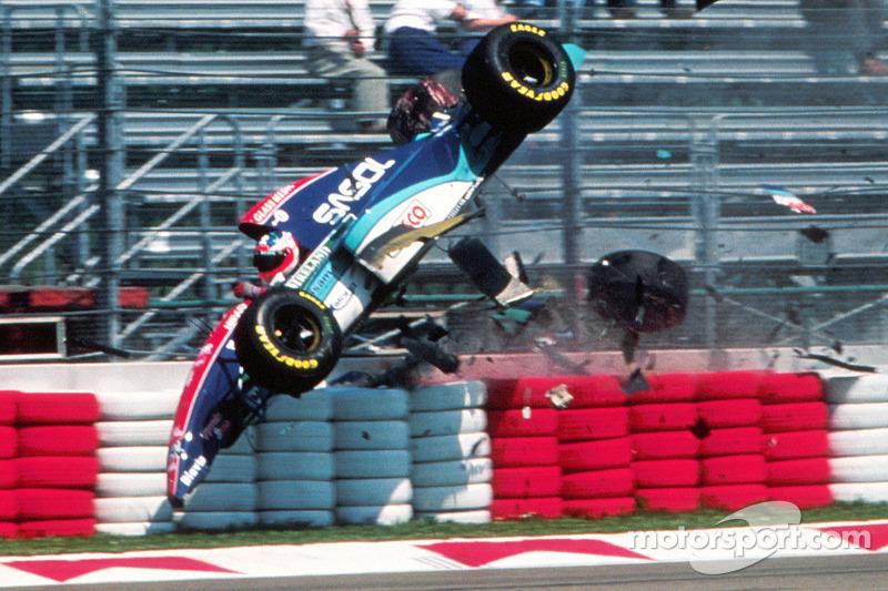 Rubens Barrichello, Jordan : accident grave