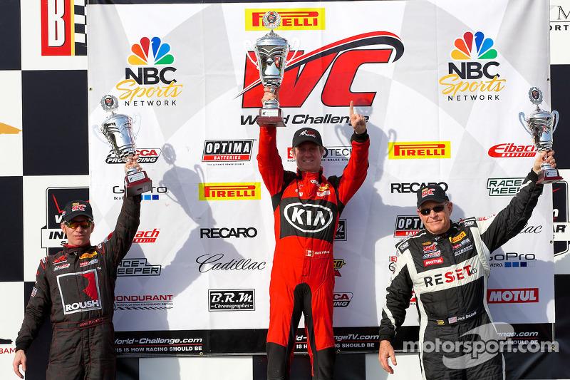 GTS Classe podio: vincitore Mark Wilkins, secondo posto Jack Roush Jr., il terzo posto Jack Baldwin