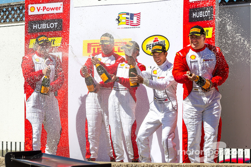 Race 1 winners celebrate