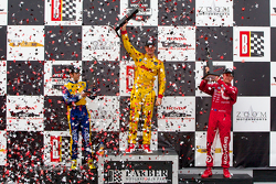Podium: race winner Ryan Hunter-Reay, second place Marco Andretti, third place Scott Dixon