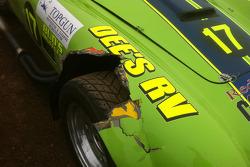 Damage to the #17 Cobra
