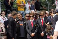 坦布雷罗弯的纪念仪式,费尔南多·阿隆索和基米·莱科宁