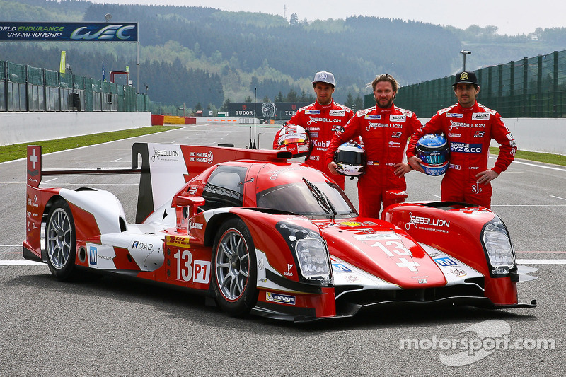 Rebellion R-One presenta la sua livera con i piloti Mathias Beche, Nick Heidfeld, Nicolas Prost