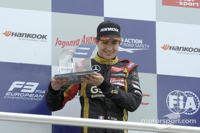 Rookie vincitore seconda gara, Esteban Ocon