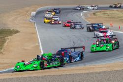 Formation lap for P/GTLM race