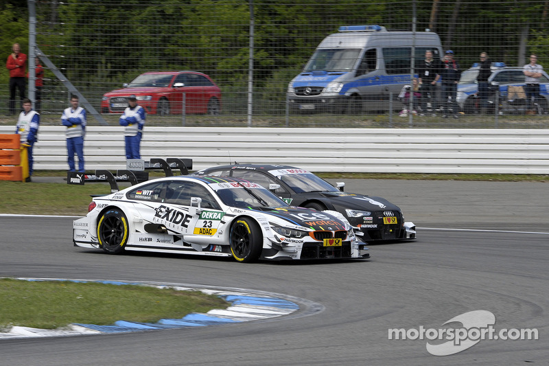Battaglia tra Marco Wittmann, BMW Team RMG, BMW M4 DTM, e Edoardo Mortara, Audi Sport Team Abt, Audi RS 5 DTM, Portrait