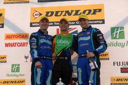 第九轮领奖台: 第一名Colin Turkington, 第二名 Mat Jackson,第三名 Fabrizio Giovanardi