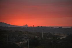 Puesta del sol sobre Argentina