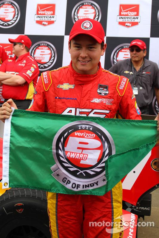 Pole position Sebastian Saavedra, KV Racing Technology Chevrolet