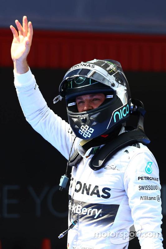 El segundo puesto de clasificación para Nico Rosberg, de Mercedes AMG F1 W05