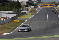 The Safety car is deployed
