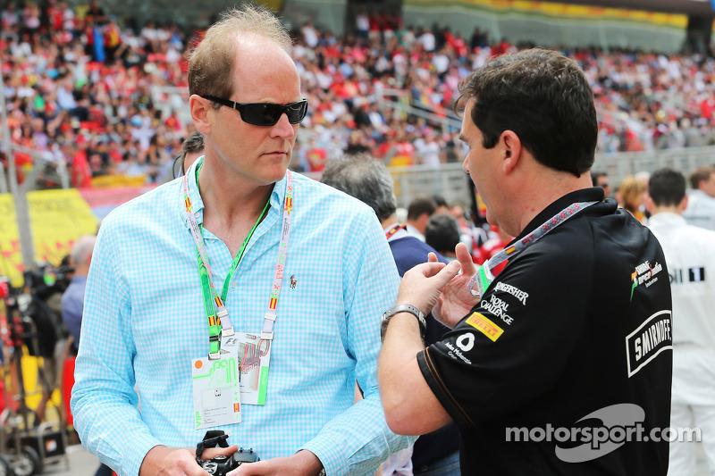 David Gates, Diageo Global Premium Core Spirits Başkanı ve Sahara Force India F1 Takımı gridde