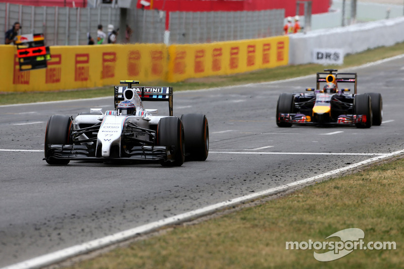 Valtteri Bottas, Williams F1 Team e Sebastian Vettel, Red Bull Racing
