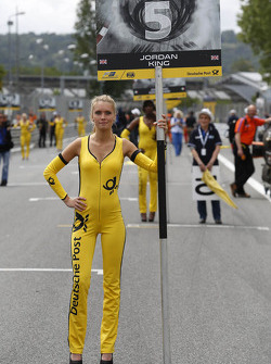 Grid girl of Jordan King