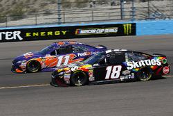 Denny Hamlin, Joe Gibbs Racing, Toyota Camry FedEx Freight and Kyle Busch, Joe Gibbs Racing, Toyota Camry Skittles Sweet Heat