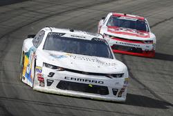 Tyler Reddick, JR Motorsports, Chevrolet Camaro Nationwide Children's and John Hunter Nemechek, Chip Ganassi Racing, Chevrolet Camaro Fire Alarm Services, Inc