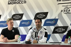 Conférence de presse, Thed Björk, YMR Hyundai i30 N TCR, Mehdi Bennani, Sébastien Loeb Racing Volkswagen Golf GTI TCR