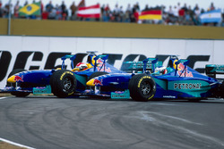 Johnny Herbert, Sauber Petronas C18 and team mate Jean Alesi