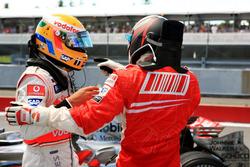 Lewis Hamilton, McLaren y Kimi Raikkonen, Ferrari