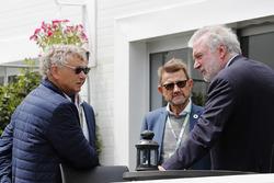 Hermann Tilke talks with Danish Politician Helge Sander and Lars Seier Christensen, CEO, Seier Capital