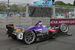 Sam Bird, DS Virgin Racing with damage