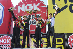 Top Fuel winner Steve Torrence, Funny Car winner Cruz Pedregon, Pro Stock winner Erica Enders-Stevens, Pro Stock Bike winner Jerry Savoie