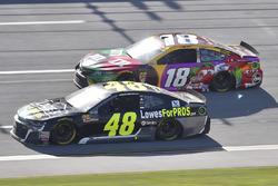 Jimmie Johnson, Hendrick Motorsports, Chevrolet Camaro Lowe's for Pros, Kyle Busch, Joe Gibbs Racing, Toyota Camry M&M's Flavor Vote
