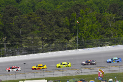 Paul Menard, Wood Brothers Racing, Ford Fusion Motorcraft / Quick Lane Tire & Auto Center, Joey Logano, Team Penske, Ford Fusion Shell Pennzoil, Ryan Blaney, Team Penske, Ford Fusion Menards/Richmond, Kevin Harvick, Stewart-Haas Racing, Ford Fusion Busch Beer Flannel and Ricky Stenhouse Jr., Roush Fenway Racing, Ford Fusion Fifth Third Bank