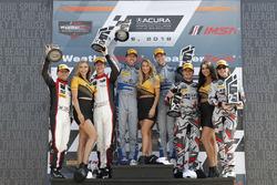 GTD podium: #48 Paul Miller Racing Lamborghini Huracan GT3, GTD: Madison Snow, Bryan Sellers, #14 3GT Racing Lexus RCF GT3, GTD: Dominik Baumann, Kyle Marcelli, #86 Meyer Shank Racing with Curb-Agajanian Acura NSX, GTD: Katherine Legge, Alvaro Parente, podium