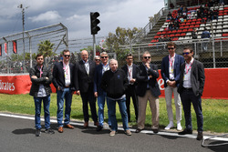Jean Todt, président de la FIA, sur la grille