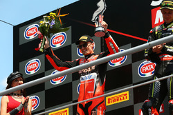 Podium: second place Chaz Davies, Aruba.it Racing-Ducati SBK Team