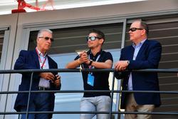 Piero Lardi Ferrari, vice président de Ferrari, Casey Stoner, et Son Altesse Sérénissime le Prince Albert de Monaco