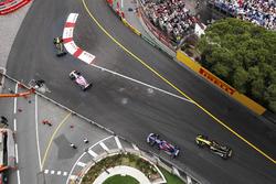 Carlos Sainz Jr., Renault Sport F1 Team R.S. 18, Sergio Perez, Force India VJM11, Pierre Gasly, Toro Rosso STR13 and Nico Hulkenberg, Renault Sport F1 Team R.S. 18