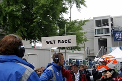 A wet race is declared