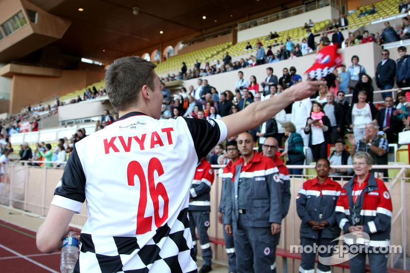 Daniil Kvyat, Scuderia Toro Rosso at the charity football match