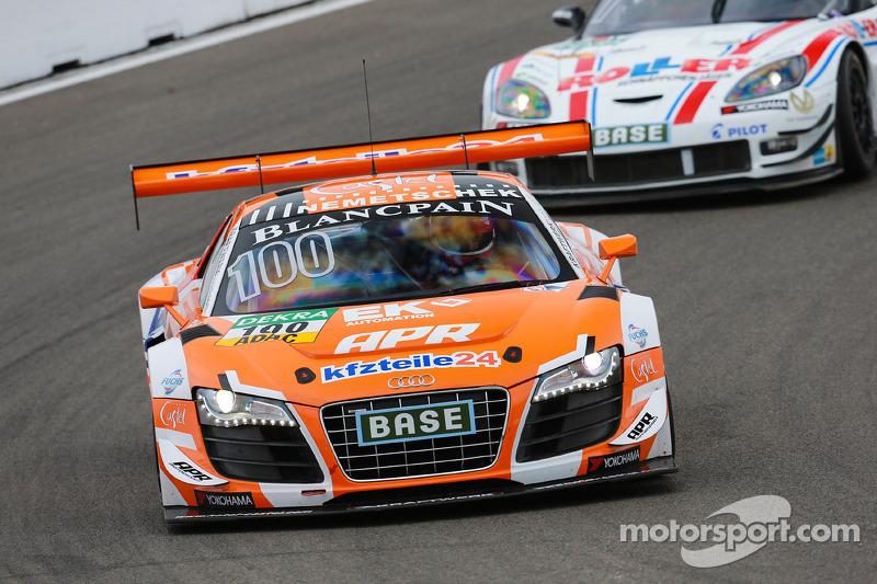 #100 kfzteile24 APR Motorsport Audi R8 LMS ultra: Daniel Dobitsch, Florian Stoll