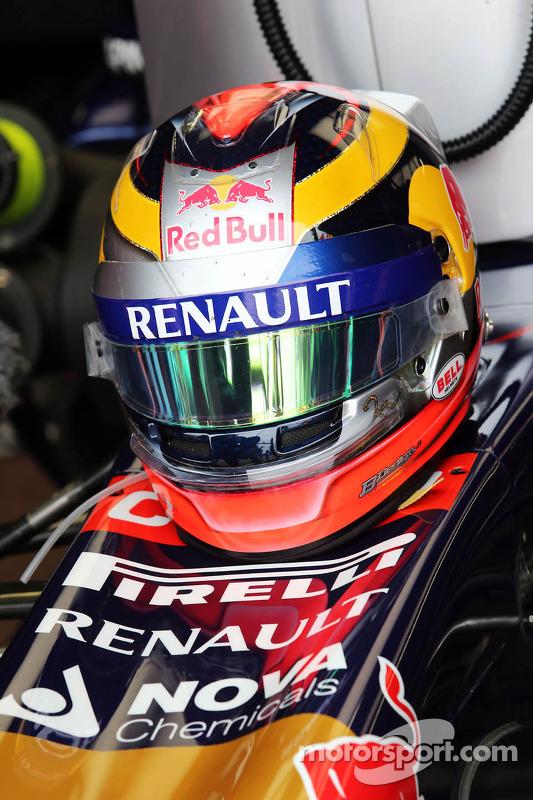 Il casco di Jean-Eric Vergne, Scuderia Toro Rosso STR9
