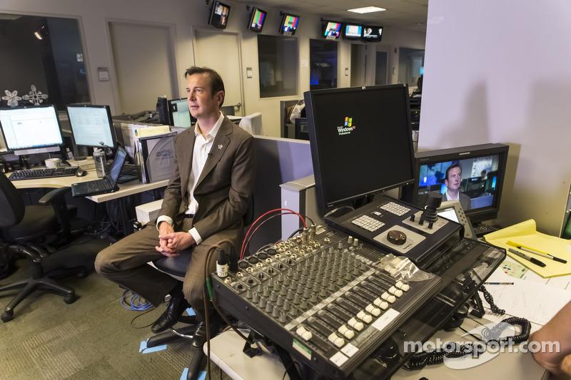 Kurt Busch makes a media appearance