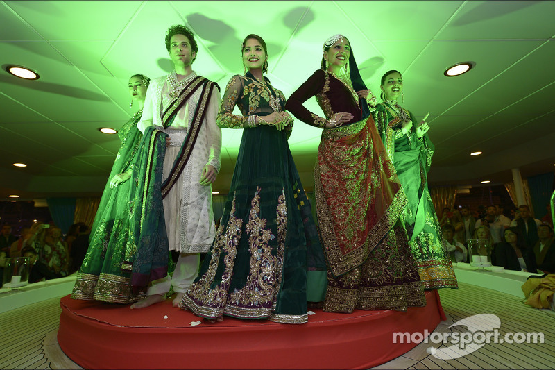 A fashion show at the Signature Monaco Party on the Indian Empress Boat