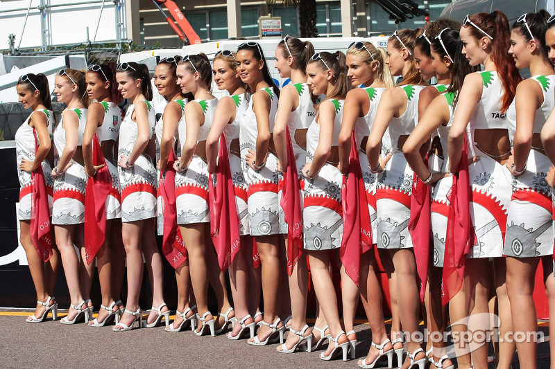 Tag Heuer Grid Girls At Monaco Gp