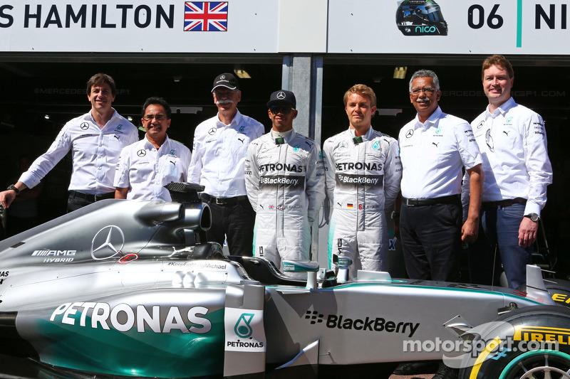 Lewis Hamilton y Nico Rosberg, Mercedes