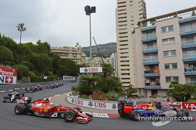 Fernando Alonso, Ferrari F14-T yarışın startında