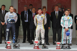 Podium: race winner Norman Nato, second place Marco Sorensen, third place Jazeman Jaafar