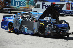 Damaged car of Ricky Stenhouse Jr., Roush Fenway Racing Ford