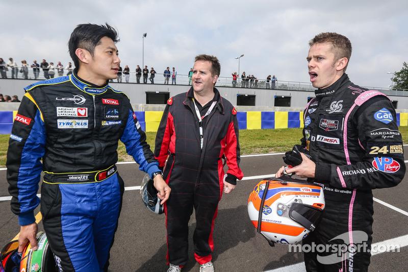 Ho-Pin Tung, Motorsport.com Eric Gilbert e Alex Brundle. Foto Clément Marin / DPPI