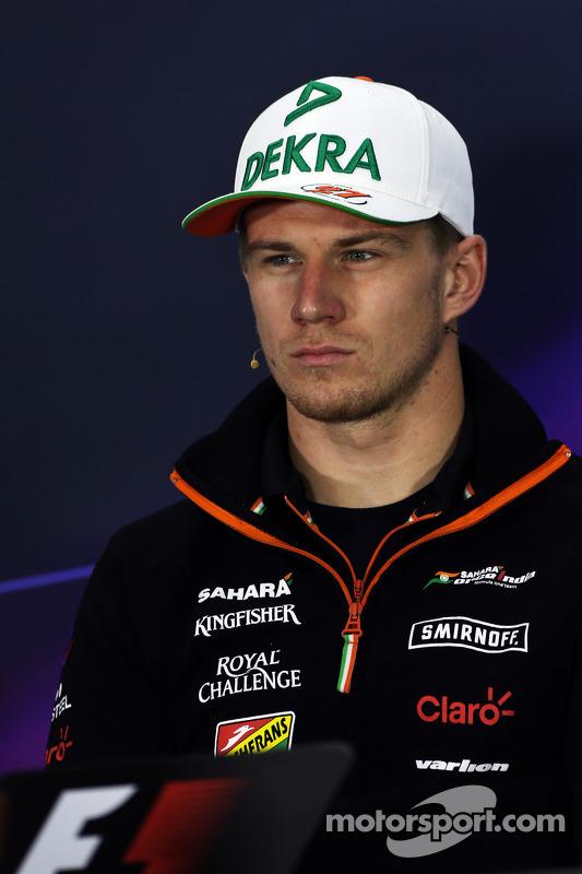 Nico Hulkenberg, Sahara Force India F1, na Conferência de Imprensa da FIA