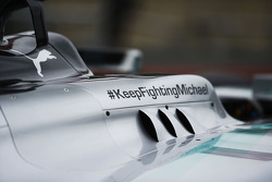 Mercedes AMG F1 W05; Motorabdeckung