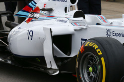 Williams FW36 sidepod detayı