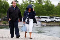 Grahame Chilton con la moglie Nadine Chilton